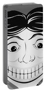 Tillie The Clown Of Coney Island In Black And White Portable Battery Charger