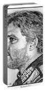 Tony Stewart In 2011 Portable Battery Charger by J McCombie