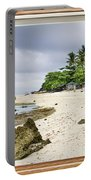 Tropical White Sand Beach Paradise Window Scenic View Portable Battery Charger