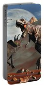 Tyrannosaurus Rex And Triceratops Meet Portable Battery Charger