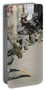 U.s. Army Soldiers Providing Security Portable Battery Charger by Stocktrek Images