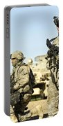 U.s. Soldiers Conduct A Combat Patrol Portable Battery Charger