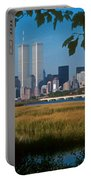 View From Liberty State Park Portable Battery Charger