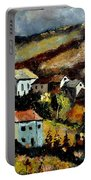 Village In Fall Portable Battery Charger