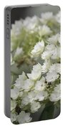 White Hydrangea Bloom Portable Battery Charger