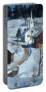 Winter Countryside Portable Battery Charger