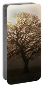 Winter Tree On A Frosty Morning, County Portable Battery Charger