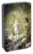 Woman In A Forest Portable Battery Charger