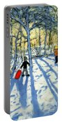 Woodland In Winter Portable Battery Charger