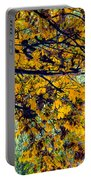 Yellow Leaves Portable Battery Charger