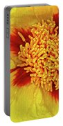 Yellow Peony Portable Battery Charger