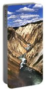Yellowstone River Below Lower Falls  Portable Battery Charger