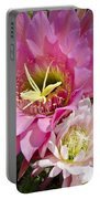 Pink Cactus Flowers Portable Battery Charger