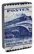 old French postage stamp Portable Battery Charger