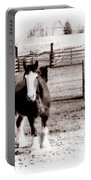 1900  Clydesdale Horse Portable Battery Charger