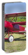 1917 Fokker Dr.1 Triplane Red Barron Canvas Photo Print Poster Portable Battery Charger