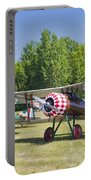 1917 Nieuport 28c.1 World War One Antique Fighter Biplane Canvas Poster Print Portable Battery Charger