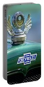 1928 Chevrolet Stake Bed Pickup Hood Ornament Portable Battery Charger