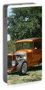 1929 Ford Butter Scorch Orange Portable Battery Charger by Jack Pumphrey