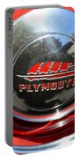 1937 Plymouth Hubcap Portable Battery Charger