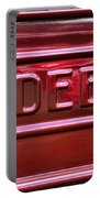 1947 Studebaker Tail Gate Cherry Red Portable Battery Charger