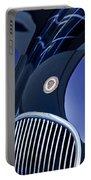 1951 Jaguar Proteus C-type Grille Emblem 4 Portable Battery Charger by Jill Reger