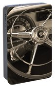 1953 Pontiac Steering Wheel - Sepia Portable Battery Charger
