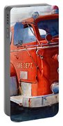 1954 American Lafrance Classic Fire Engine Truck Portable Battery Charger by Kathy Clark