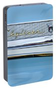 1956 Ford Fairlane Skyliner Emblem Portable Battery Charger