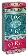 1957 Peru Ten Centavos Stamp Portable Battery Charger