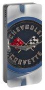 1962 Chevrolet Corvette Emblem 4 Portable Battery Charger