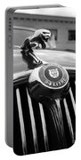 1963 Jaguar Front Grill In Balck And White Portable Battery Charger