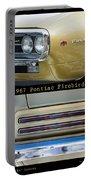 1967 Bronze Pontiac Firebird  Poster S Portable Battery Charger