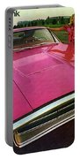 1970 Dodge Charger Tickled Pink Portable Battery Charger