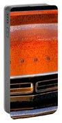 1971 Dodge Challenger - Orange Mopar Typography - Mp002 Portable Battery Charger