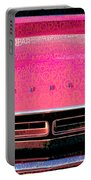 1971 Dodge Challenger - Pink Mopar Typography Portable Battery Charger