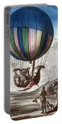 1st Manned Hydrogen Balloon Flight, 1783 Portable Battery Charger