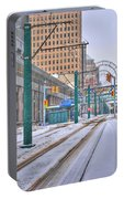 1st Real Snowfall Metro Rail 2012 Portable Battery Charger
