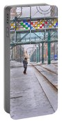1st Real Snowfall Metro Rail Downtown Portable Battery Charger