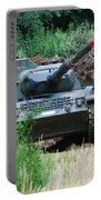 A Leopard 1a5 Mbt Of The Belgian Army Portable Battery Charger by Luc De Jaeger