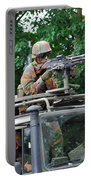 An Infantry Soldier Of The Belgian Army Portable Battery Charger by Luc De Jaeger
