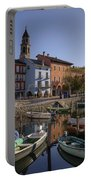 Ascona - Lake Maggiore Portable Battery Charger by Joana Kruse