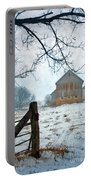 Barn In Winter Portable Battery Charger