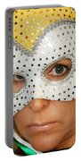 Blond Woman With Mask Portable Battery Charger