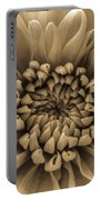 Brown Flower Portable Battery Charger