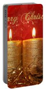 2 Candles Christmas Card Portable Battery Charger