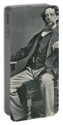 Charles Dickens, English Author Portable Battery Charger by Photo Researchers