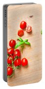 Cherry Tomatoes Portable Battery Charger by Tom Gowanlock