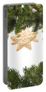 Christmas Cookies Decorated With Real Tree Branches Portable Battery Charger