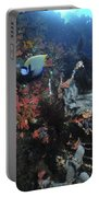 Colorful Reef Scene With Coral Portable Battery Charger